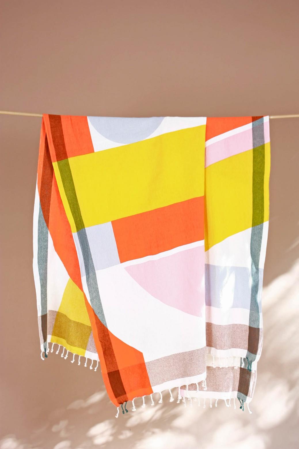 Vision Orange Beach Towel