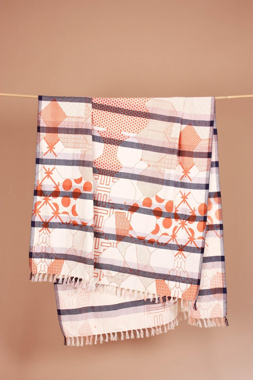 Miroir Orange Beach Towel