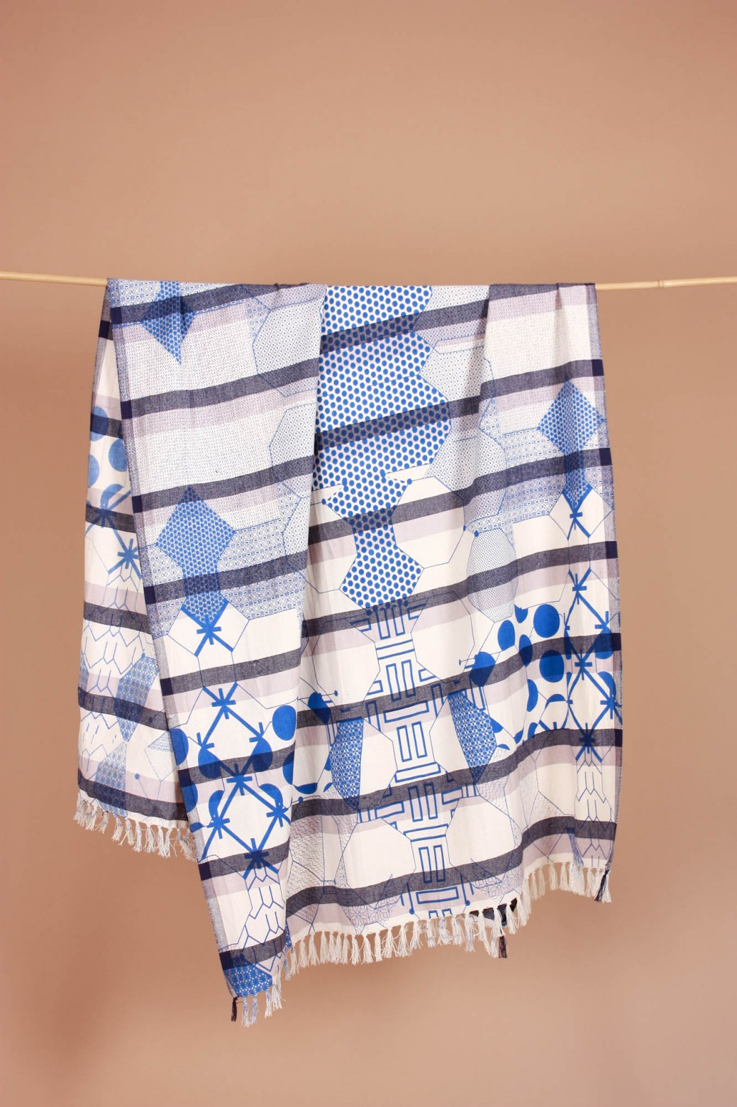 Miroir Blue Beach Towel