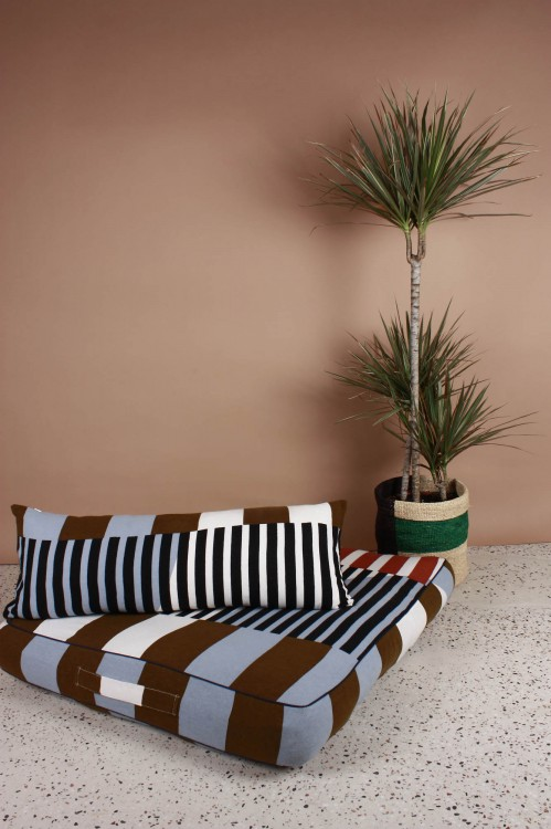 Sol Khaki Floor Cushion Cover