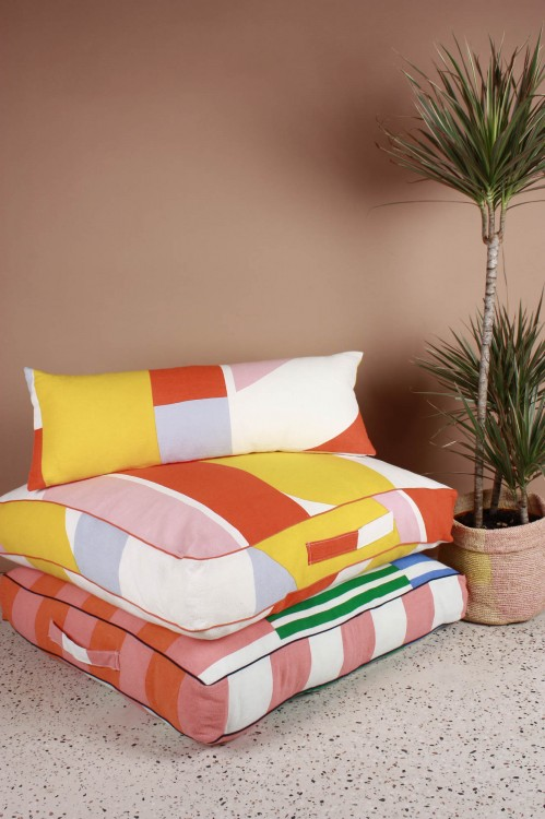 Vision Orange Floor Cushion Cover