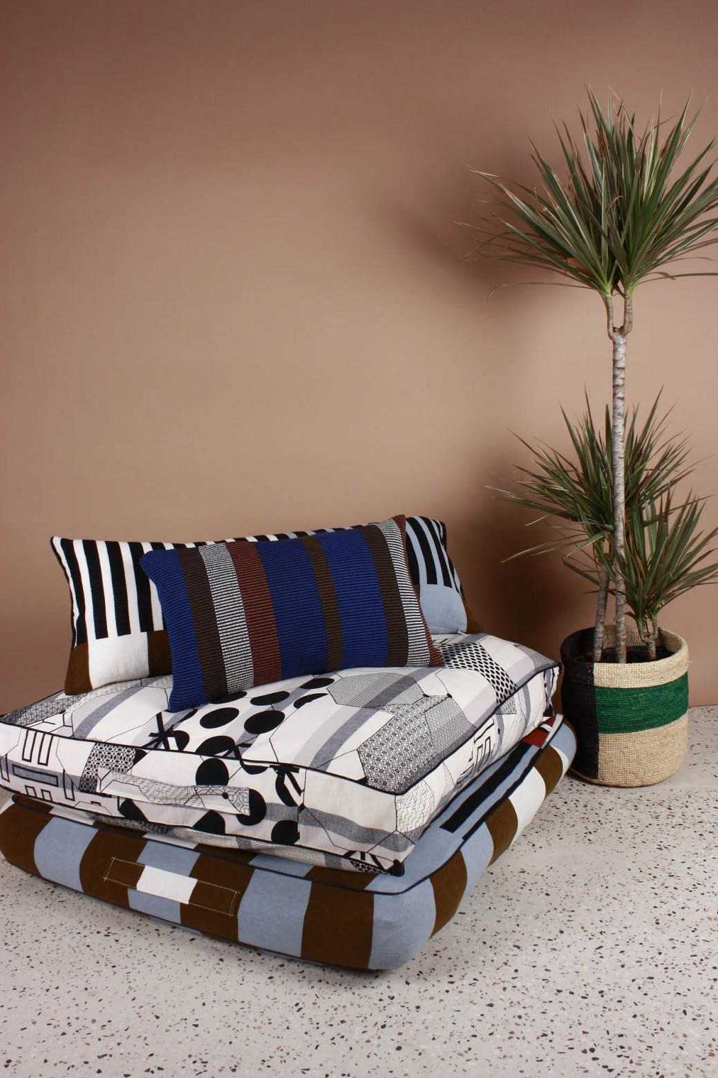 Sol Khaki Floor Cushion Cover
