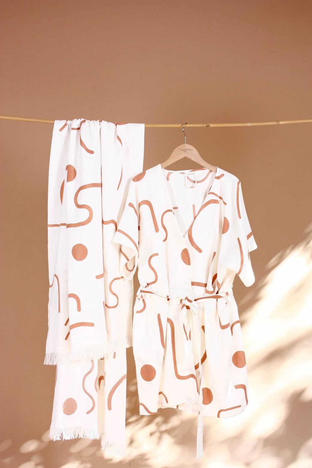 Kimono Dune Blanc
