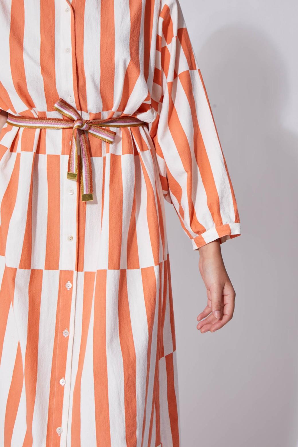 Eulalie Peach Dress