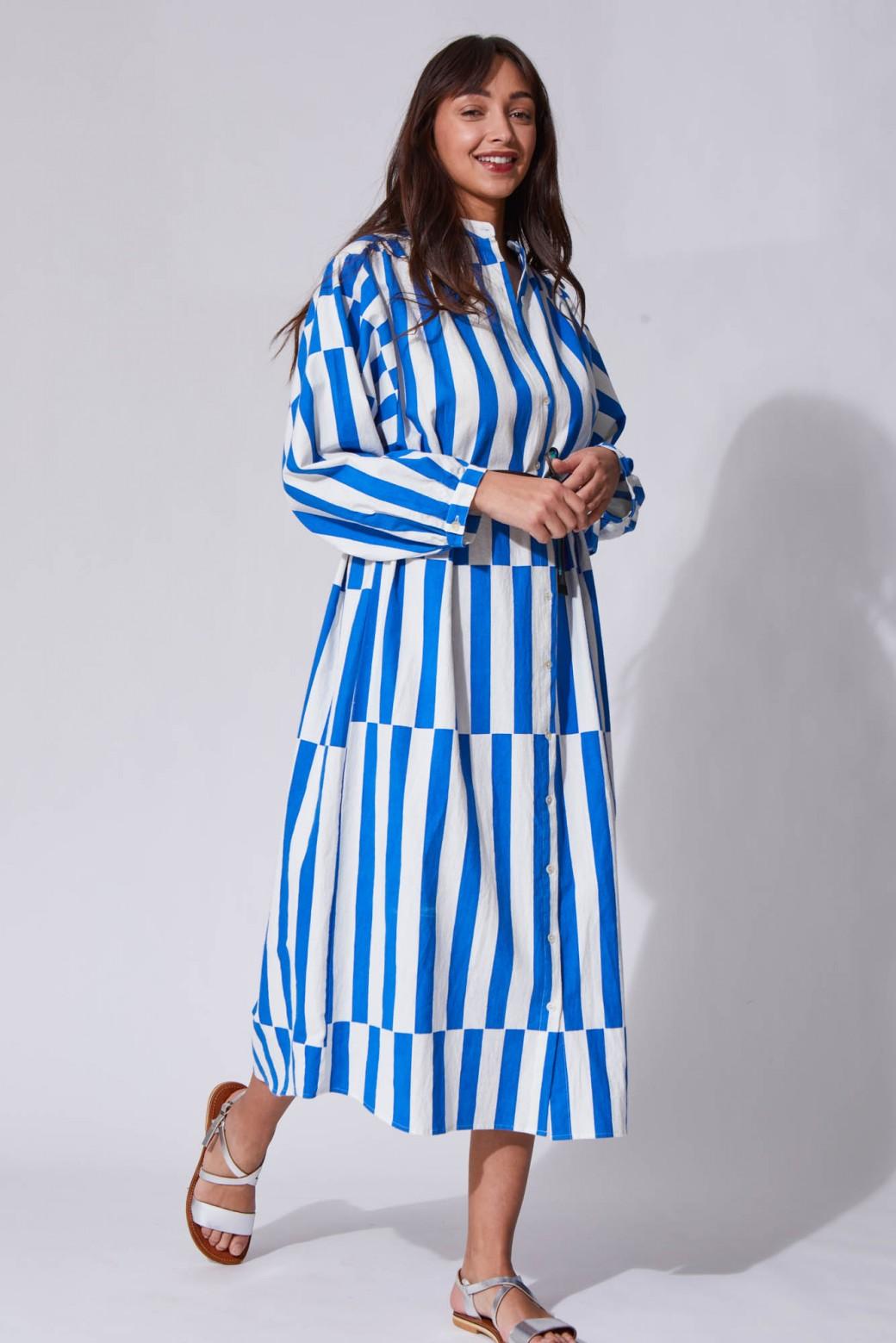 Eulalie Blue Dress