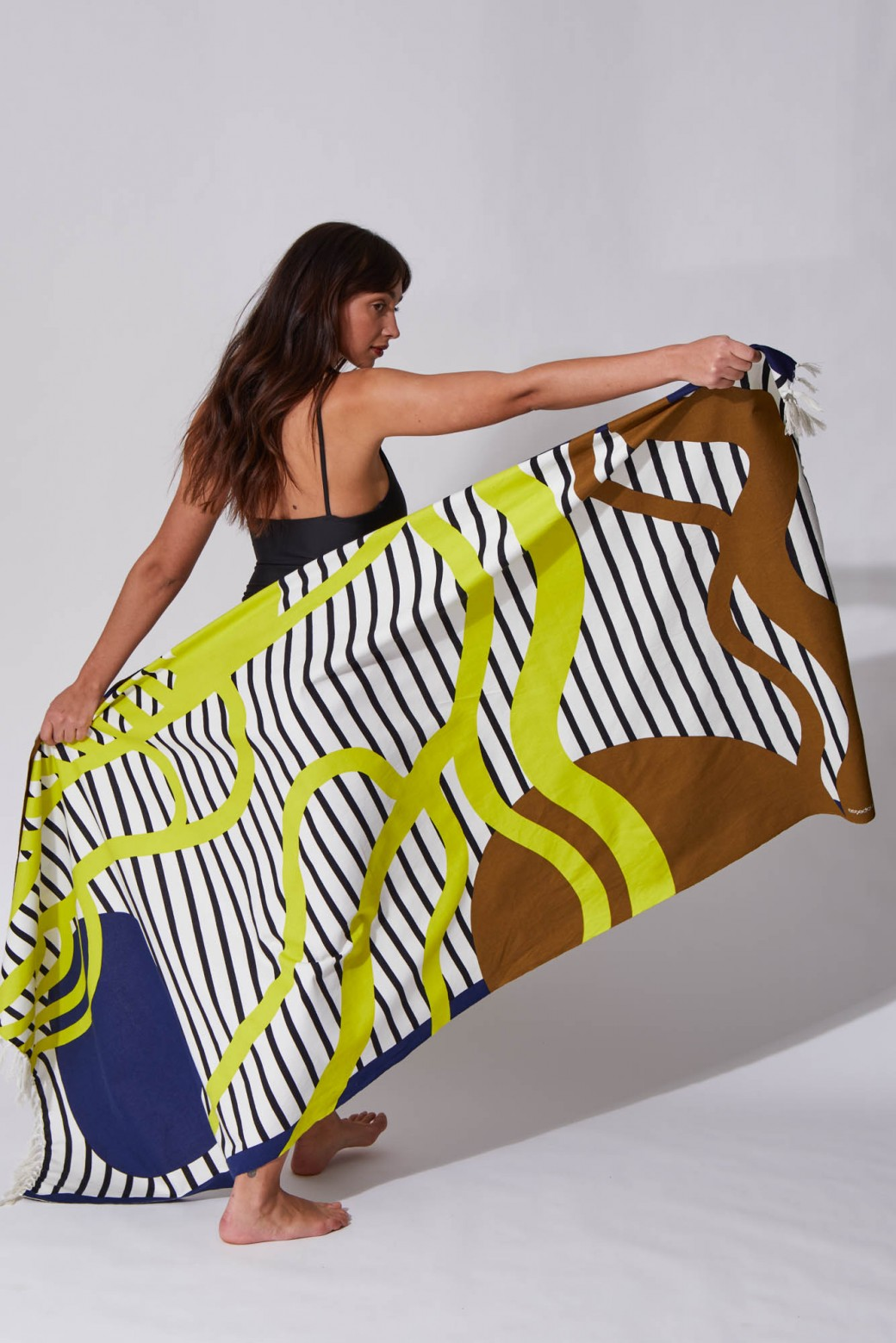 Soleil Couchant Lime Beach Towel