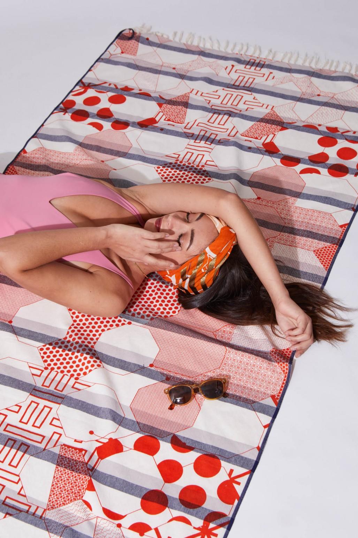 Fouta Miroir Orange