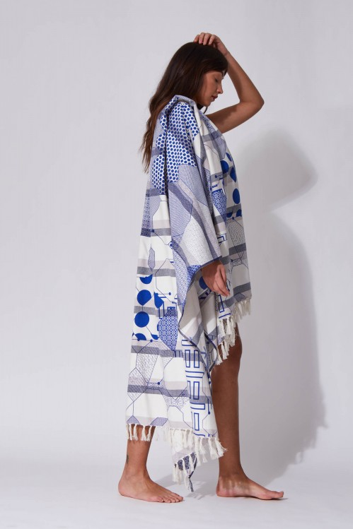 Miroir Blue Beach Towel