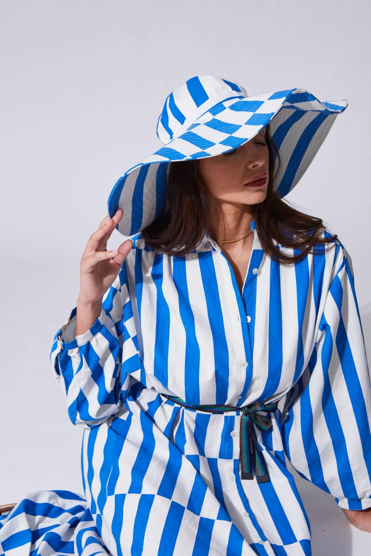 Mila Blue Floppy Hat