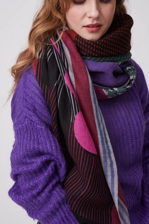 Foulard Abstract Pourpre