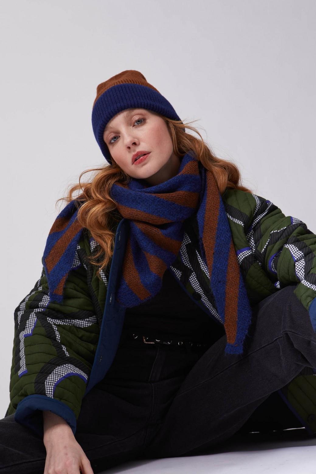 Bonnet Carla Marine Caramel