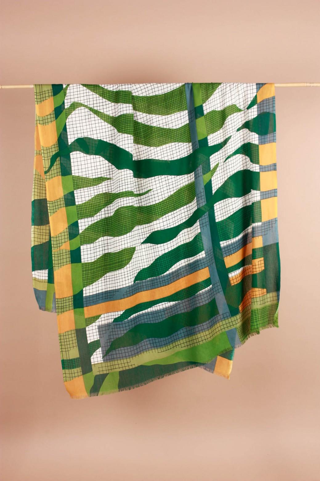 Foulard Zebra Vert