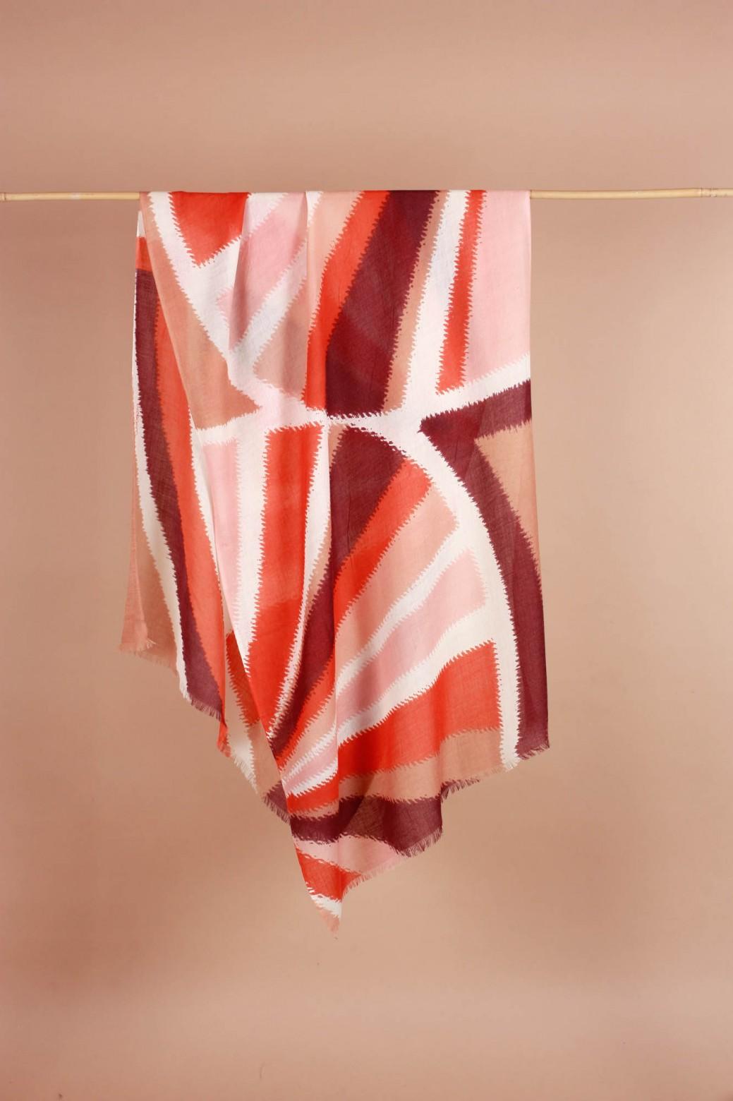 Foulard Prisma Rouge