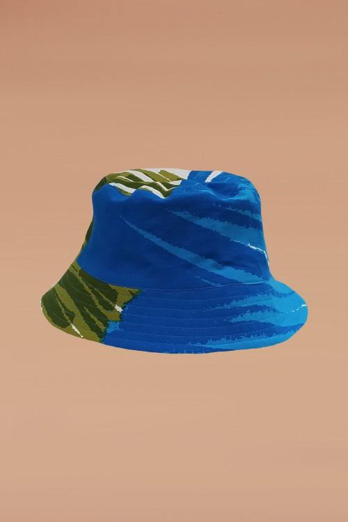 Nino Blue Bucket Hat - Design n°2