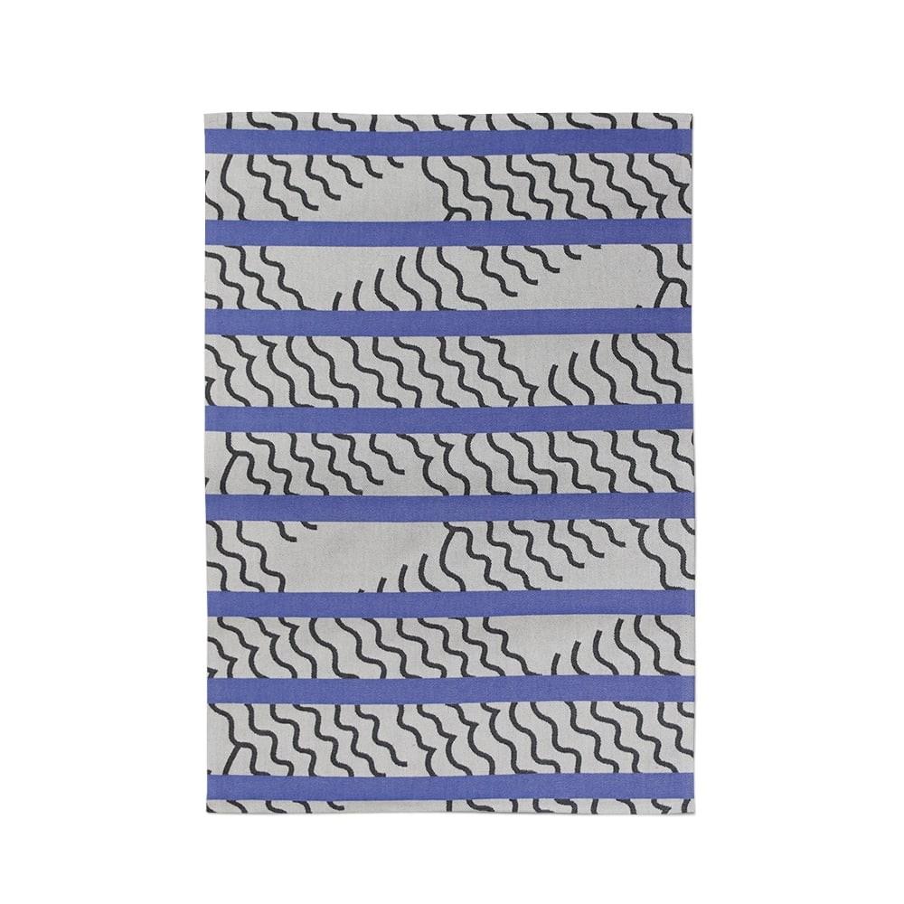 VAGUES BLUE TEA TOWEL MAPOÉSIE x JEAN VIER