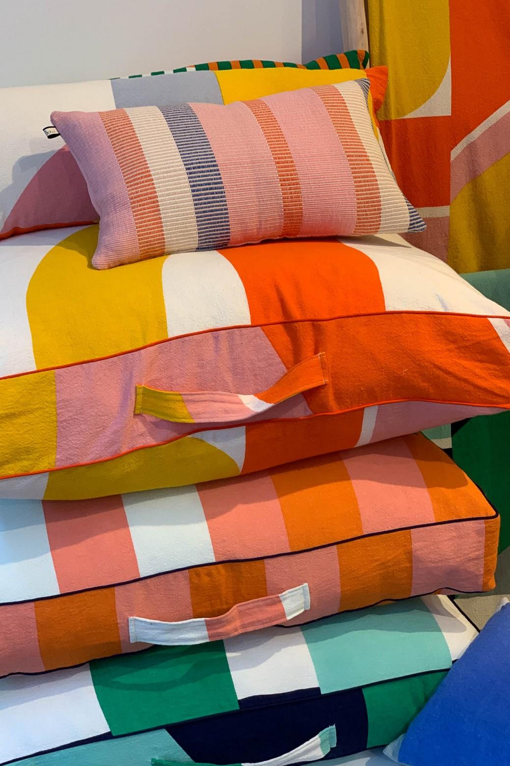 Vision Orange Floor Cushion Cover
